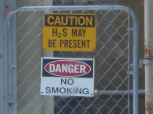 South Texas H2S sign